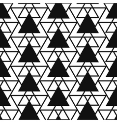 Simple triangle net shape black and white seamless vector image