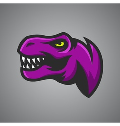 Tyrannosaurus rex head sport mascot vector