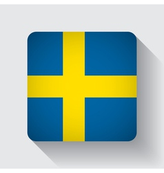 Web button with flag of sweden vector