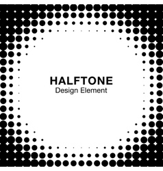 White Abstract Halftone Design Element vector image