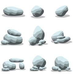 Cartoon rock set collection of vector image