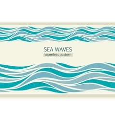 Seamless patterns with stylized waves vector image