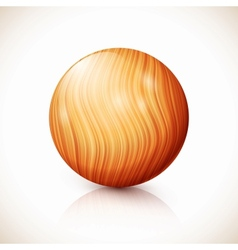 Yellow isolated wooden ball vector