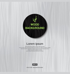 Vintage white wood plank as texture and background vector