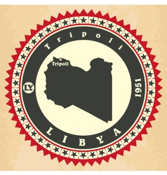Vintage label-sticker cards of libya vector