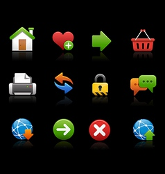 Web site icons black background vector