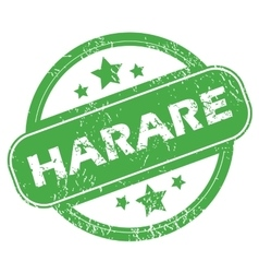 Harare green stamp vector