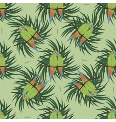 Seamless pattern with two colourful parrot vector