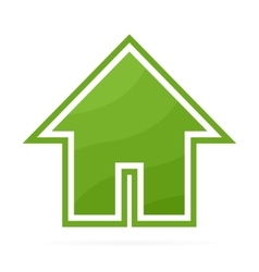 Eco house logo or icon vector