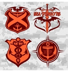Navy military patch set vector