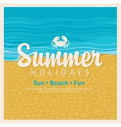 Travel banner word summer holidays vector