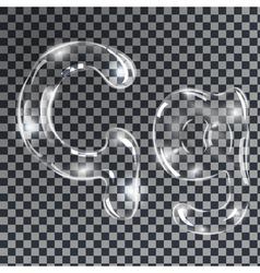 Bubbles letters g vector