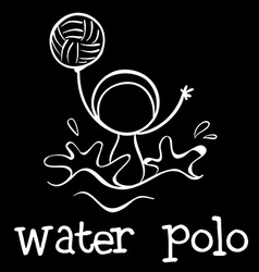A water polo sports vector