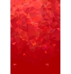 Abstract polygonal red geometric background low vector