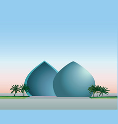 Baghdad iraq city skyline landmark al-shaheed vector