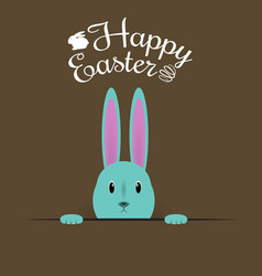 Beautiful easter hare on brown background vector