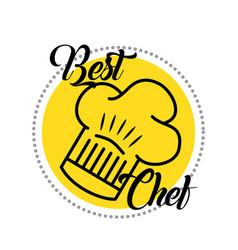 Best chef cooking vector
