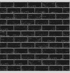 Black old brick seamless vector