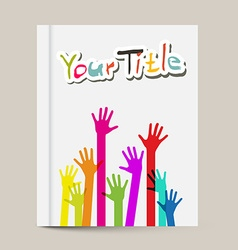 Book or Brochure Cover Design Template with vector image vector image