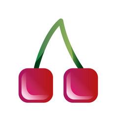 Cherry sweet fruit vector