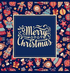 Christmas card holiday ornament vector