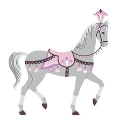 Circus horse vector image