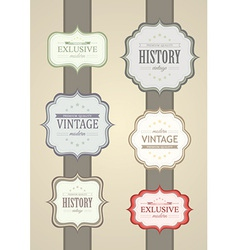 Collection of Vintage Label vector image vector image