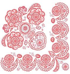 color pattern deco ornamental vector image