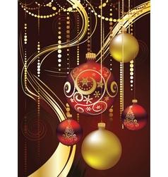 Decorative christmas ornaments vector