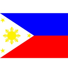 Flag of philippines vector image vector image