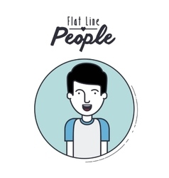 flat line people design vector image
