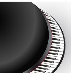grand piano keys vector image vector image