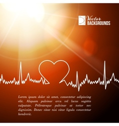 Heart shape ecg line vector