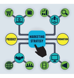 Infographic of marketing strategy vector