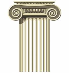 ionic column vector image