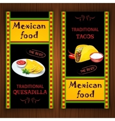 Mexican food banners vector