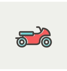 Motor thin line icon vector image