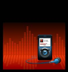 mp3 music player vector image vector image