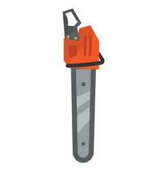 professional chainsaw cartoon vector image