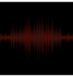 Red equalizer on black background vector image
