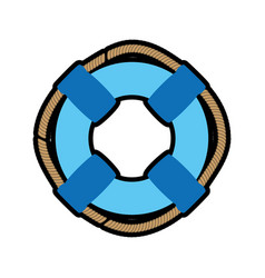 ring buoy float vector image