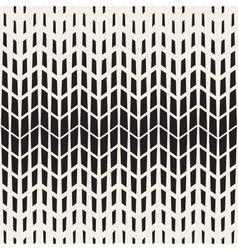 Seamless Black And White Chevron Halftone vector image vector image