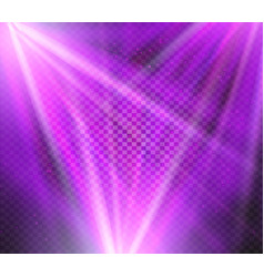Shining purple color light effects glowing vector