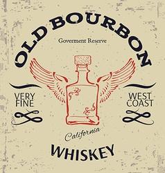 Whiskey label design t-shirt print vector