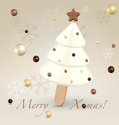 White Christmas postcard greetings vector image vector image