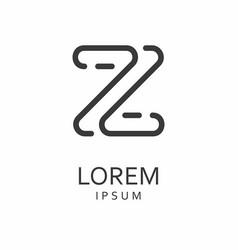 z letter logo icon vector image
