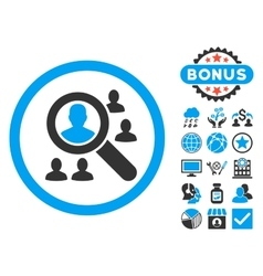 Explore Patients Flat Icon with Bonus vector image