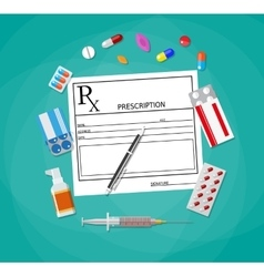 Prescription healthcare medical diagnostics vector