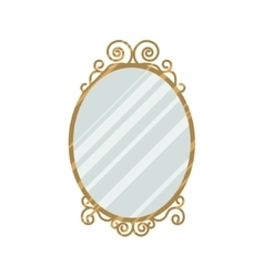 Vintage style mirror vector image