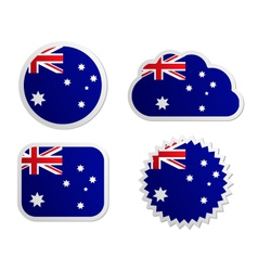 Australia flag labels vector image
